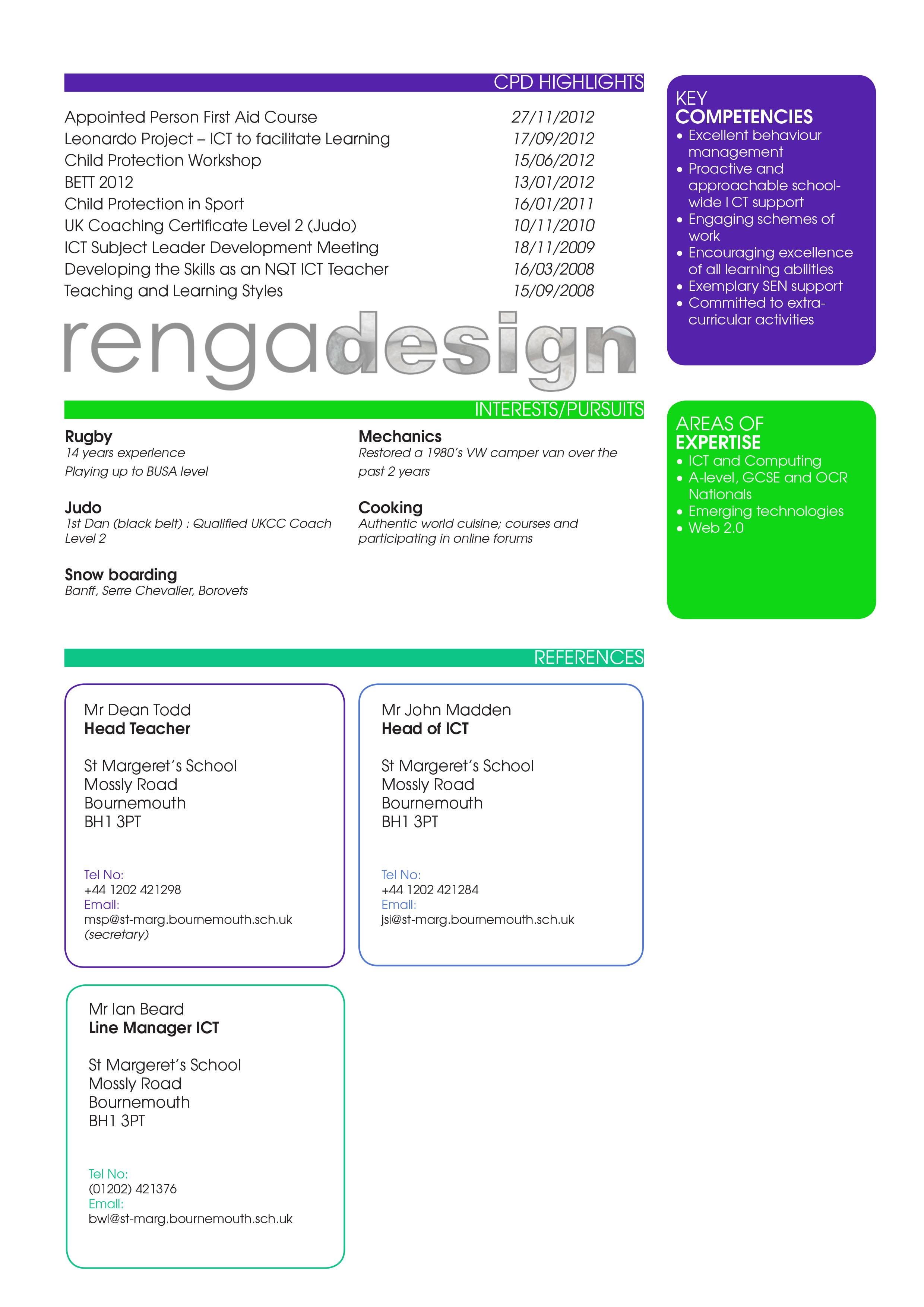 Custom CV's | renga design
